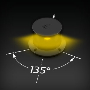 Led Navigation Lights 135° yellow/amber