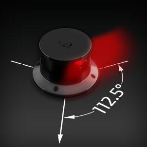 Led Navigation 112.5° red