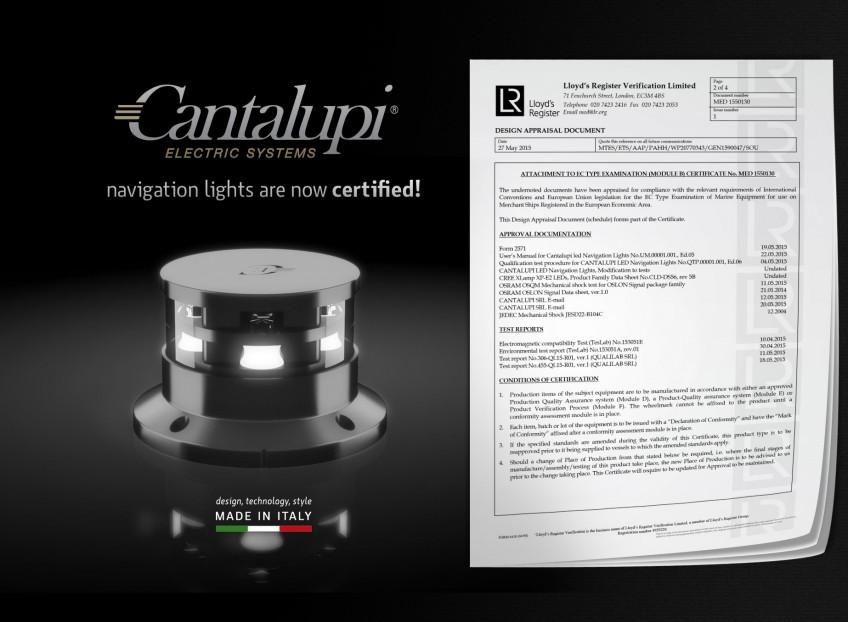 Navigation Lights Med Certification Cantalupi