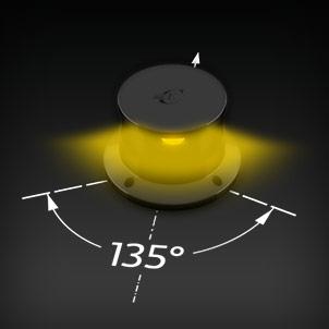 Led Navigation Lights 135° yellow/amber